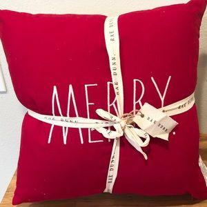 Rae Dunn Christmas MERRY BRIGHT pillows